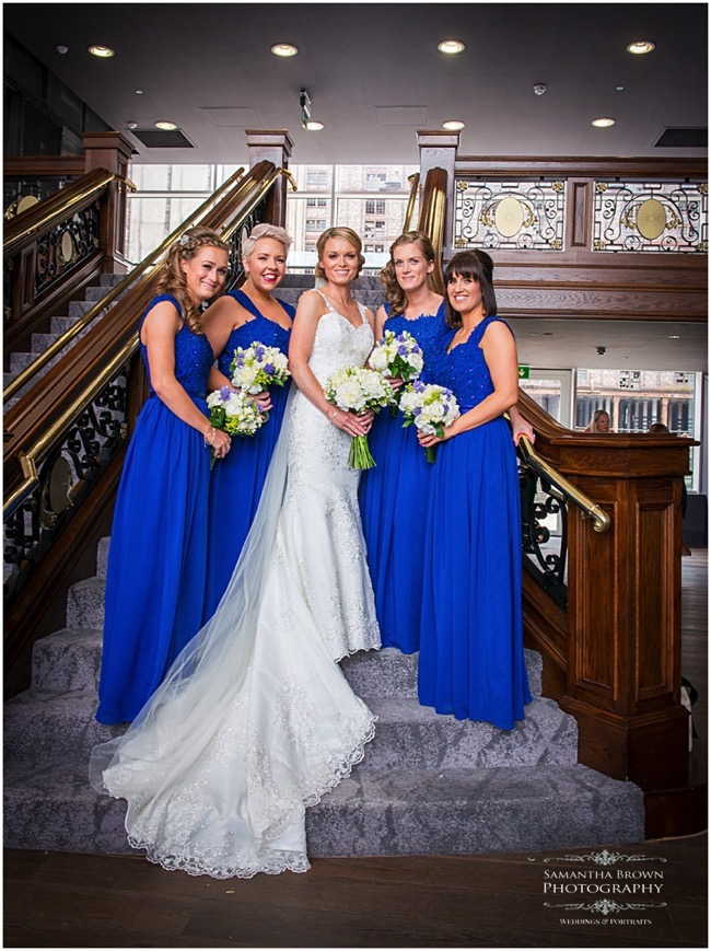 Bride and Bridesmaids at The Titanic Hotel Liverpool