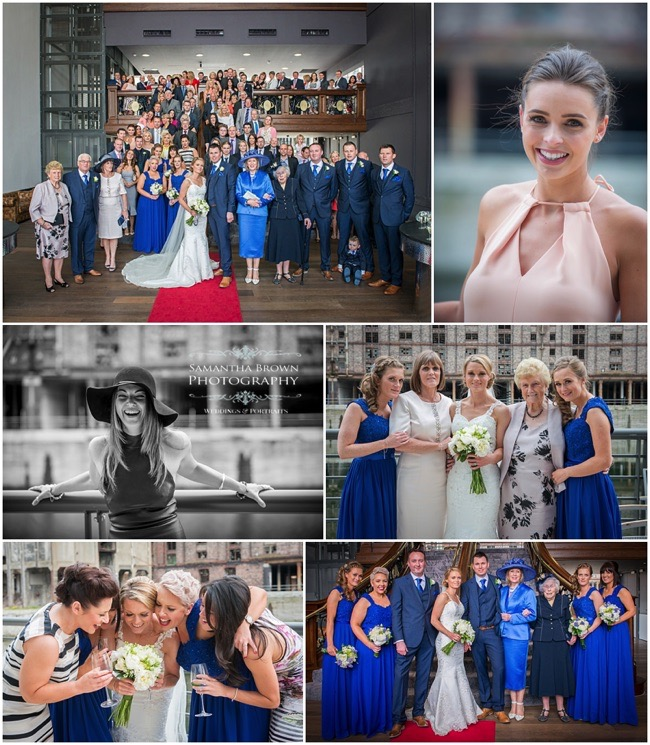 wedding group photography at The Titanic Hotel Liverpool
