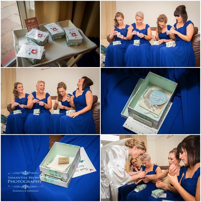 Bridesmaids presents - photography by Samantha brown