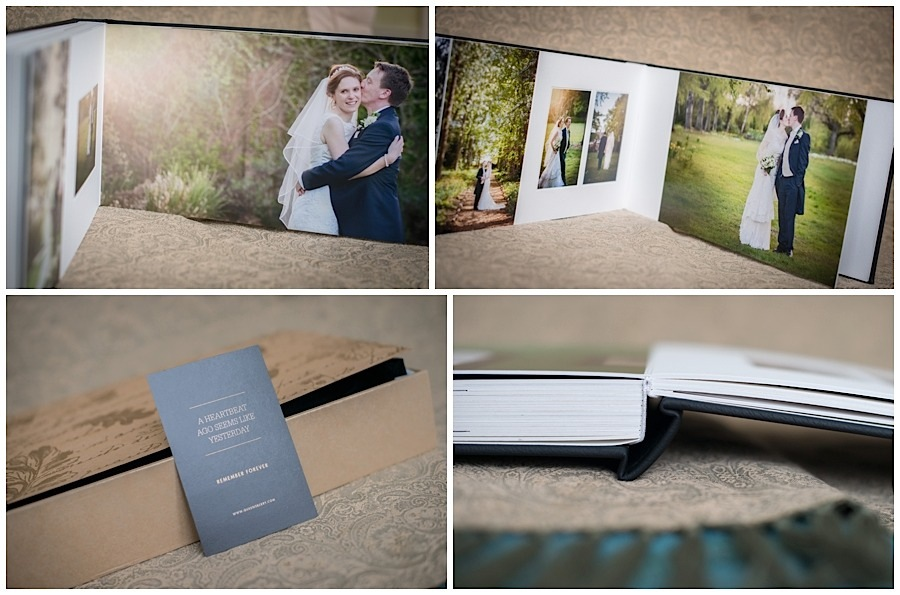 matted wedding albums