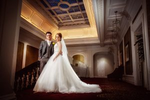 Bride and Groom at Double Tree Hilton Liverpool