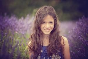 girl in purple dress in lavender fields by Samantha Brown Photography