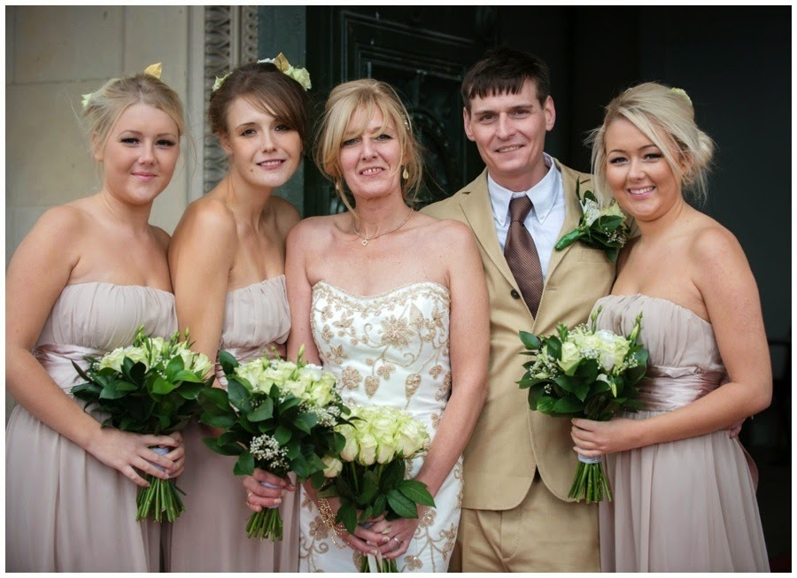 bridal party Wedding at St Georges Hall