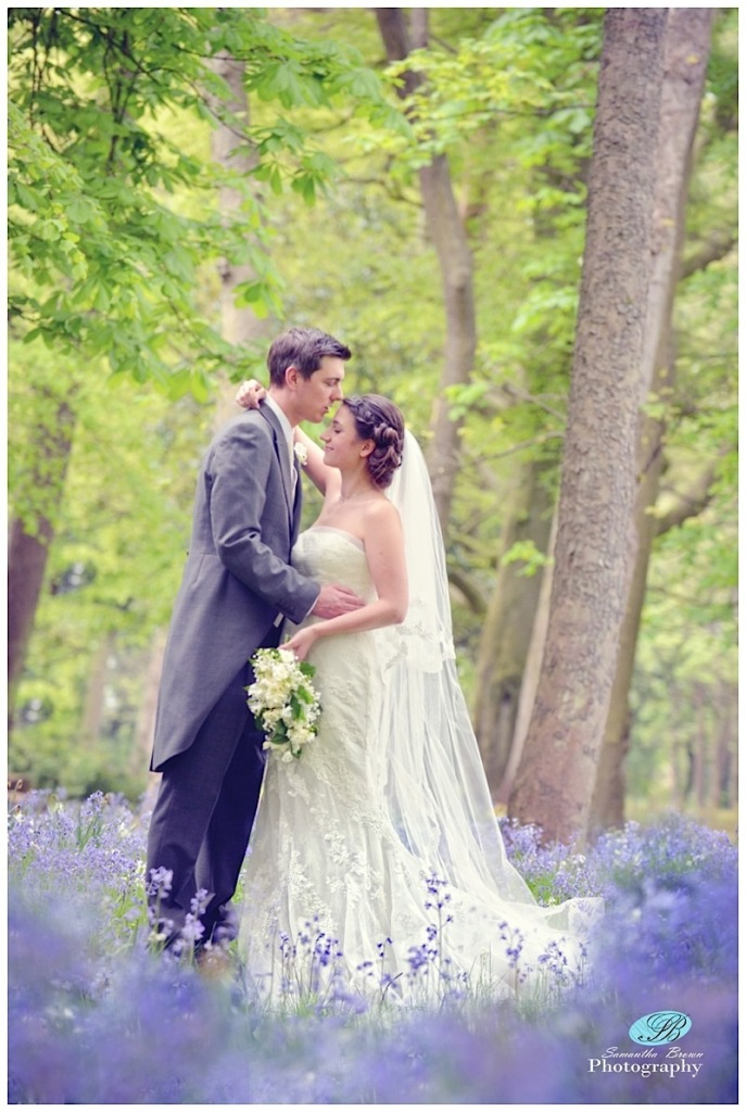 Hinderton Hall Wedding Photography bluebells