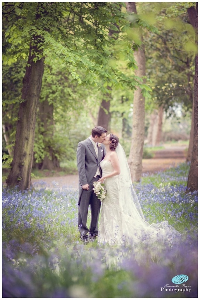 Hinderton Hall Wedding Photography bluebell kiss