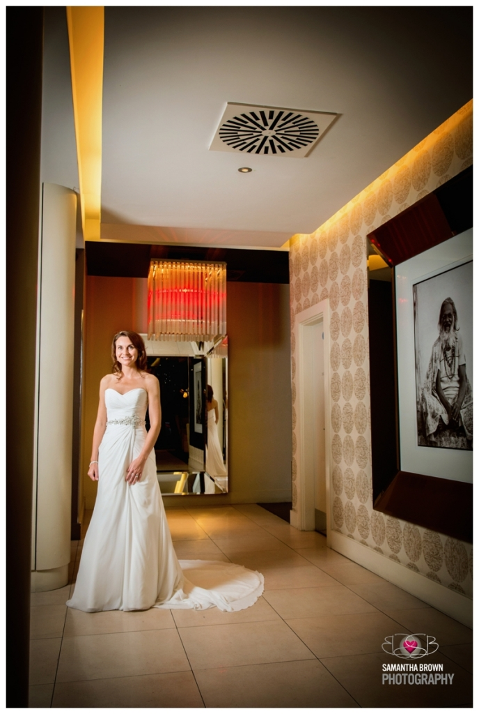 Bride in the Lobby of the Vincent Hotel
