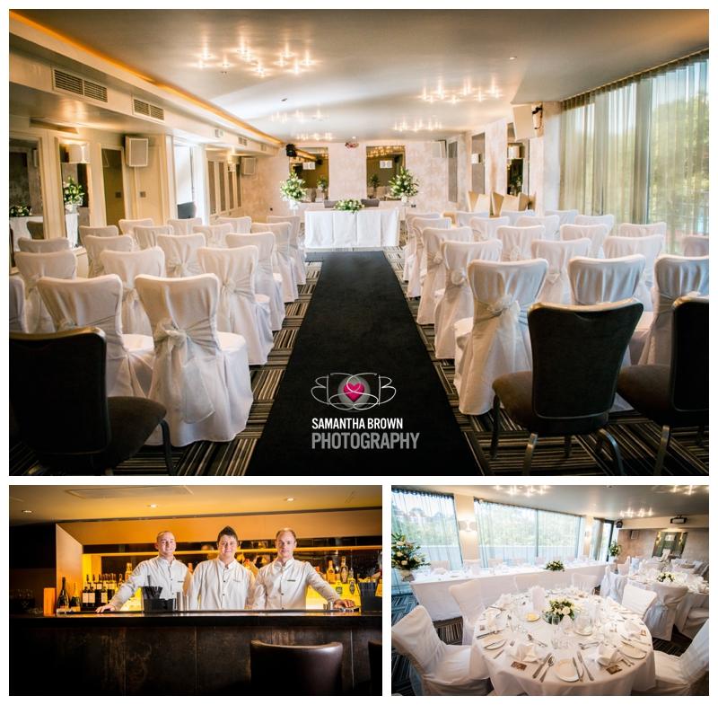 The Vincent Hotel ceremony set up