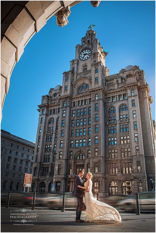 Liver Buildings Liverpool wedding Photography