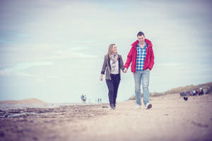 couple on Crosby beach