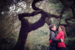 couple in Sefton Park under a tree