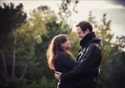 couple ay Hillbark Hotel hugging