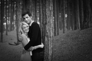 couple in formby woods by samantha brown photography