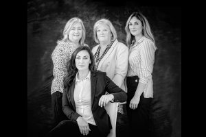 mother and daughters black and white image by Samantha Brown Photography