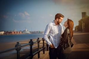 couple on New brighton Pier
