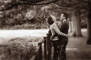 couple hugging and laughing at Croxteth Hall
