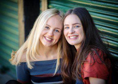two sisters in their teens