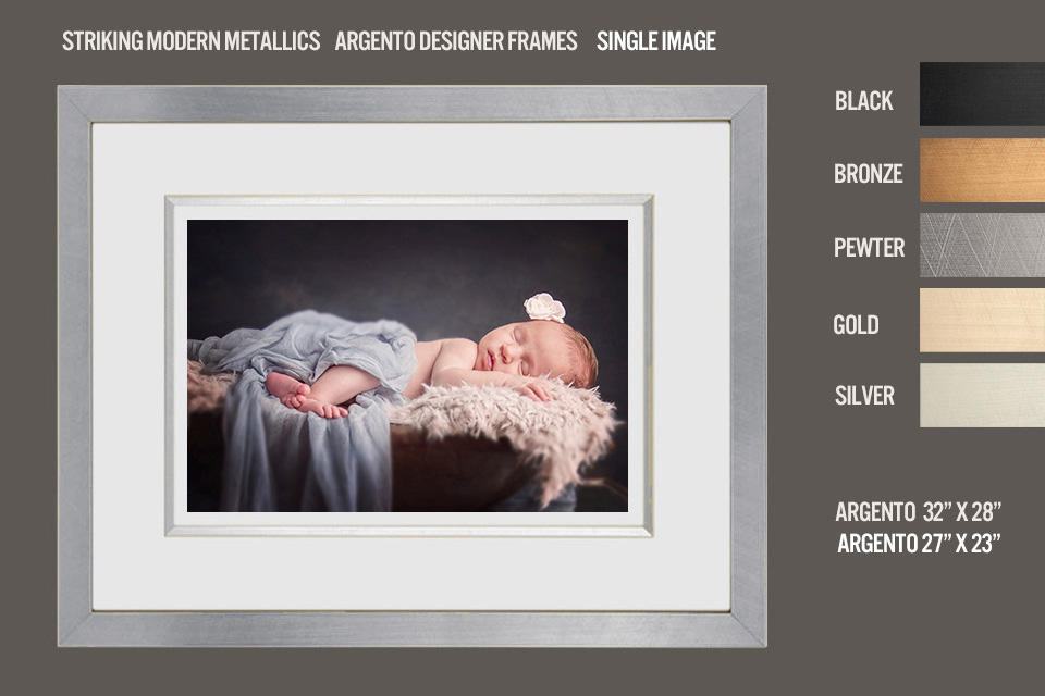 Argento Baby Frame Pewter