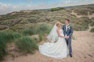 Bride and Groom in Sand Dunes