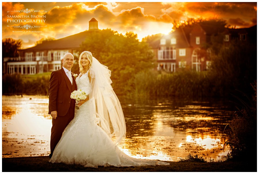 Sunset with Bride and groom at Formby Hall