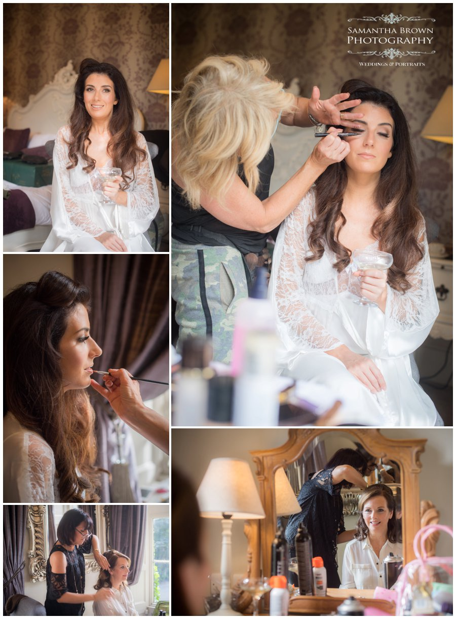 Bridal preparations at Mitton Hall