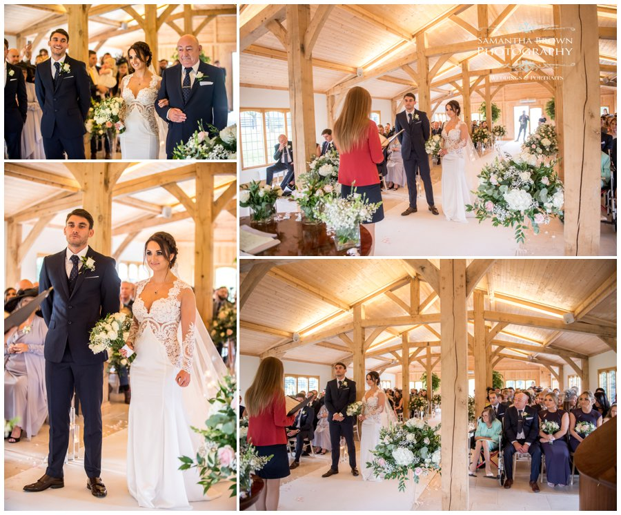 ceremony at Colshaw Hall