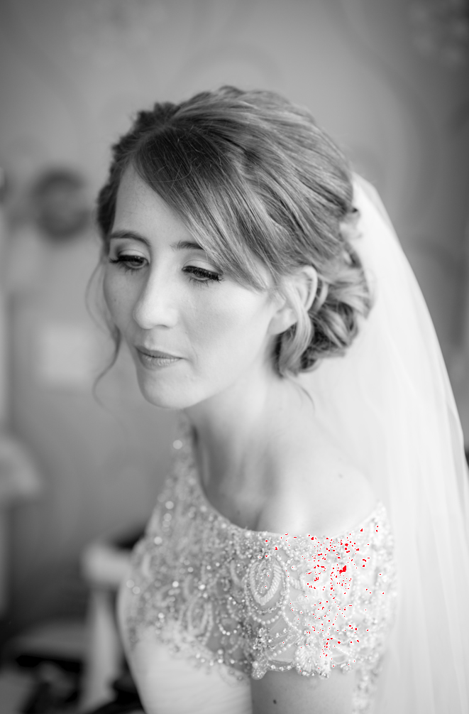 Sleeklens Base Autotone preset applied to image of a bride