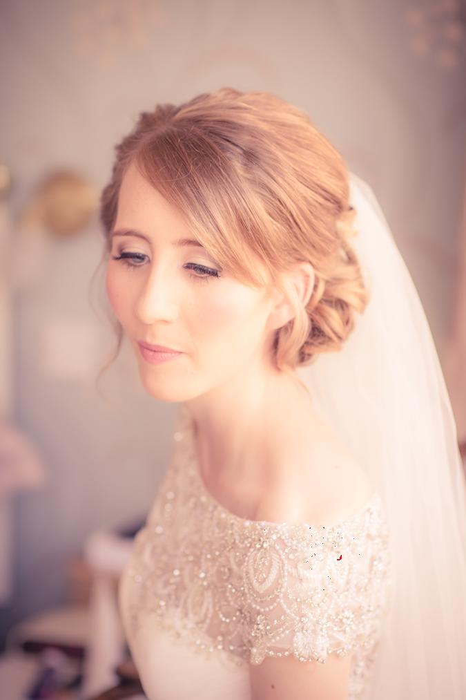 Sleeklens Violet Mazes preset applied to image of a bride