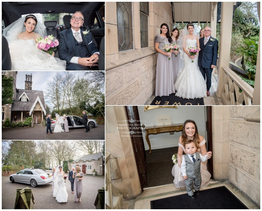 brides arrival at West Tower
