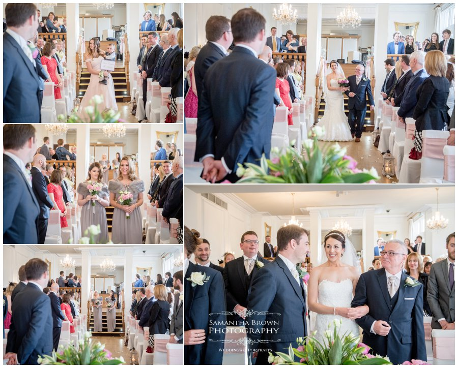 wedding ceremony at West Tower