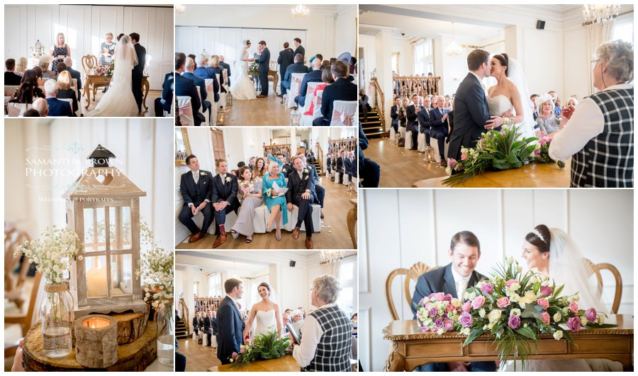 wedding ceremony and first kiss at West Tower