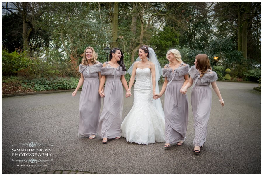 bride and the girls at West Tower