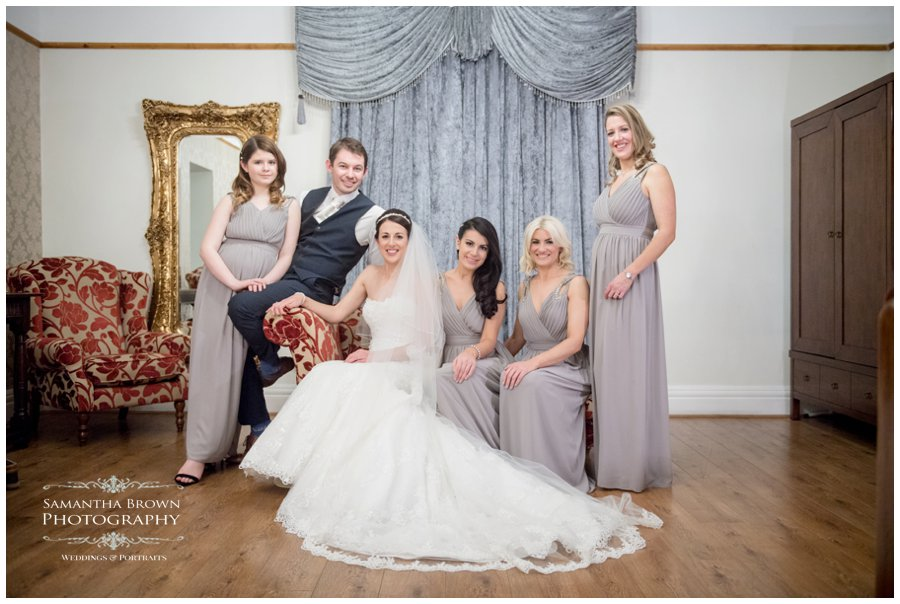 girls and groom at west Tower