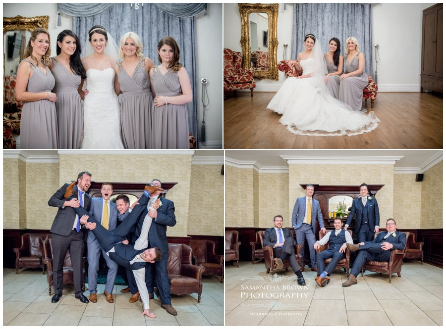 bridal party at West Tower