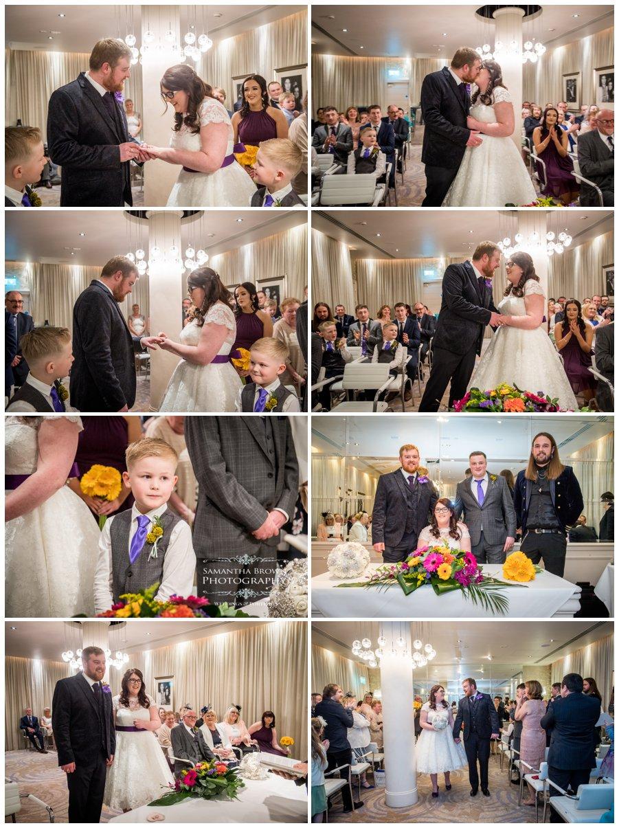 wedding ceremony at hard Days Night Hotel Liverpool