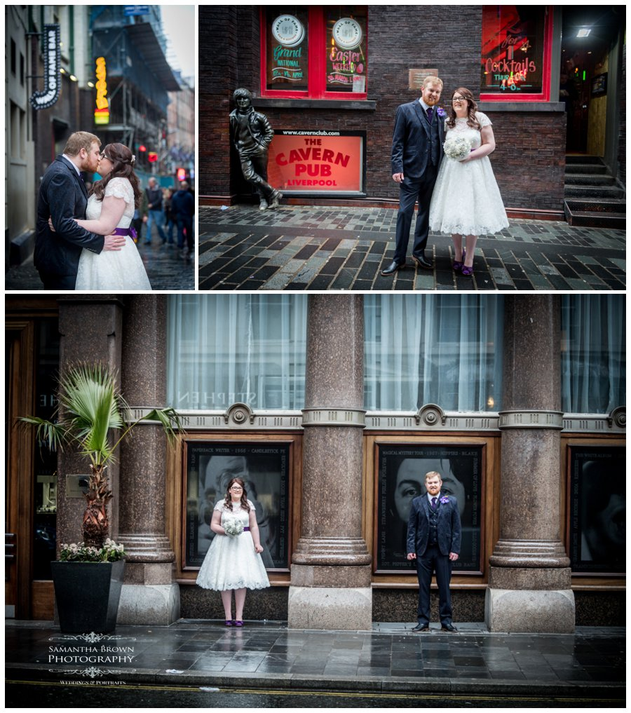 Bride and Groom on Matthew Street Liverpool