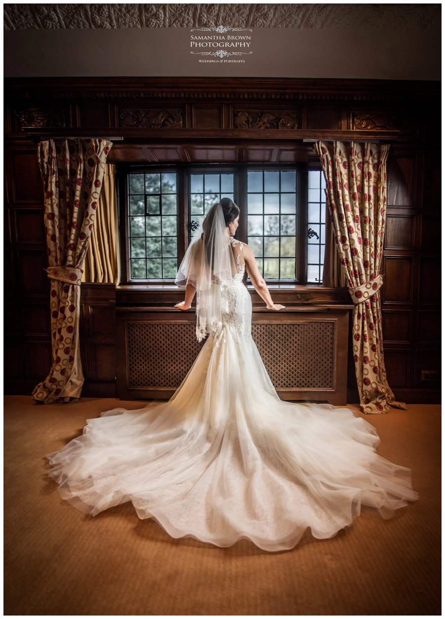 Brides dress at Inglewood Manor
