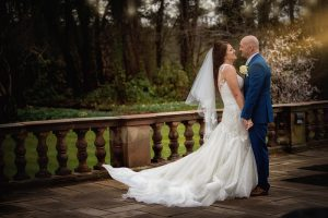 Bride and groom at Inglewood Manor