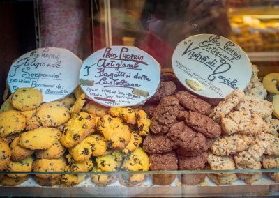 Biscuits being sold in Italy