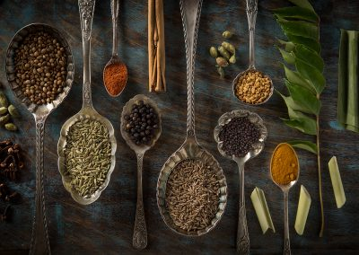 ingredients for Sri Lankan curry powder