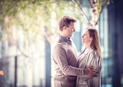 Couple on a pre wedding shoot in Liverpool
