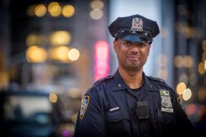New York Cop outside Radio City