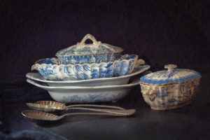 Victorian Blue China dishes