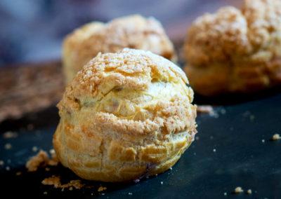 Choux bun from the Little Macaron shop Liverpool