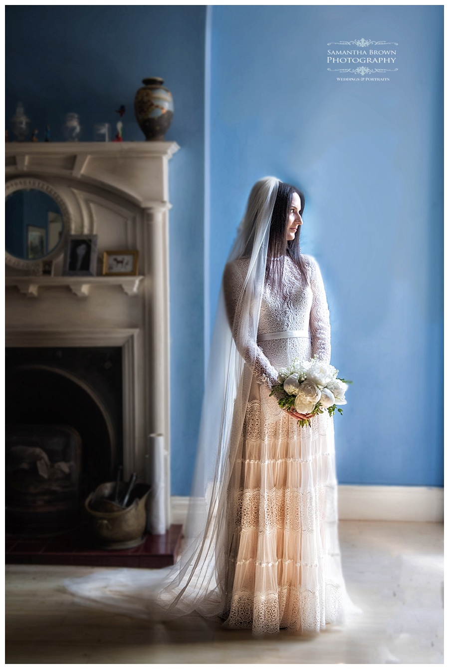 Bride at home before her wedding