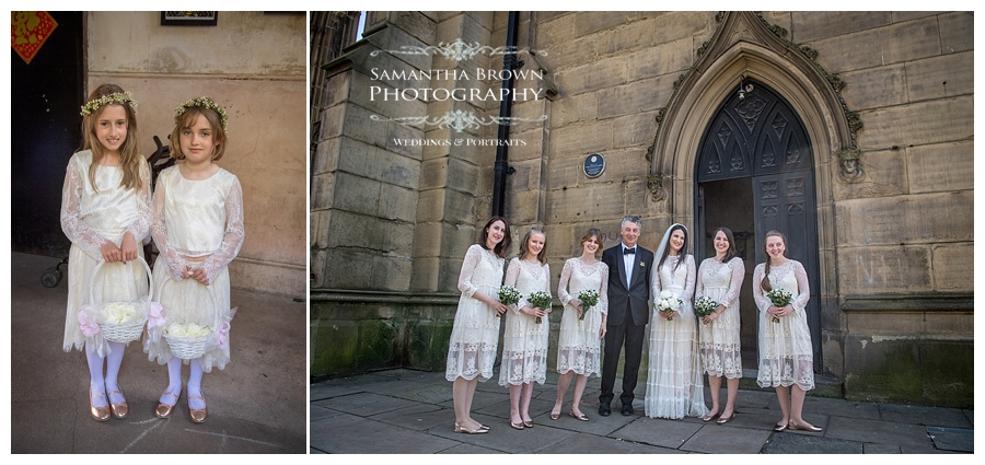 St Lukes Bombed out Church Liverpool Bridesmaids