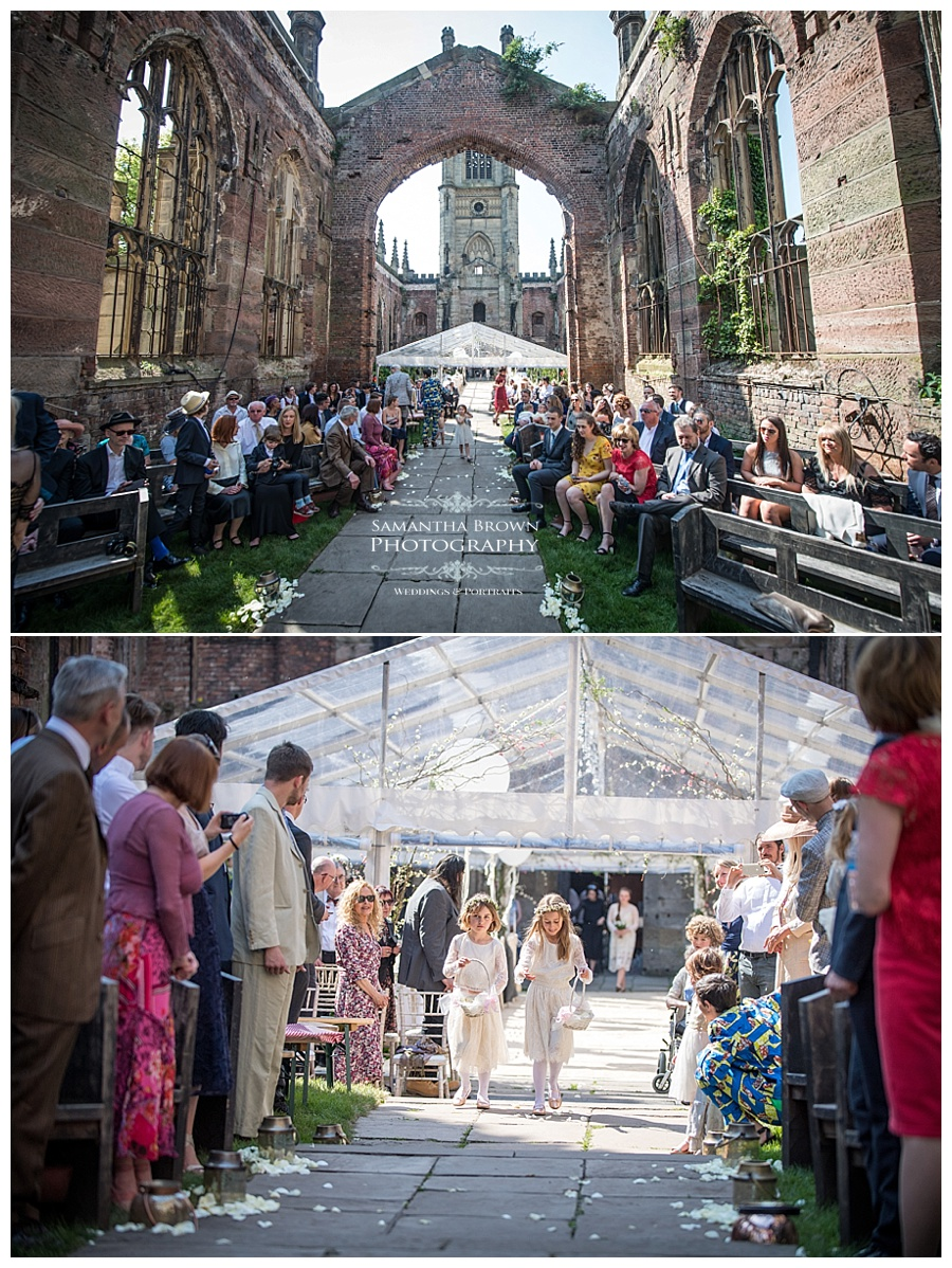 St Lukes Bombed out Church Liverpool bridal procession