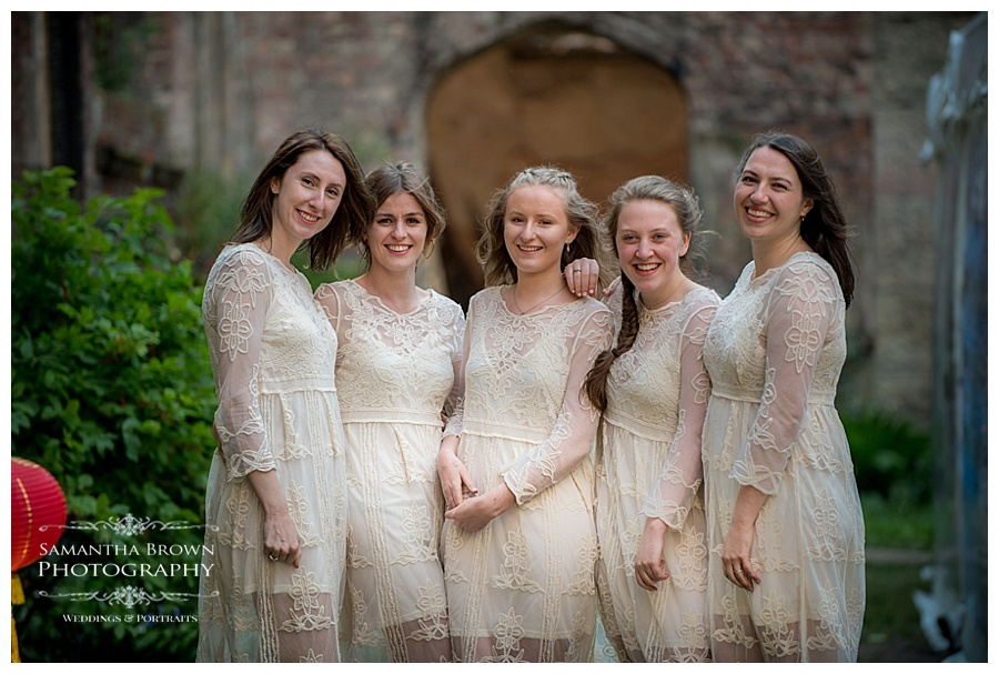 St Lukes Bombed out Church Liverpool wedding Bridesmaids
