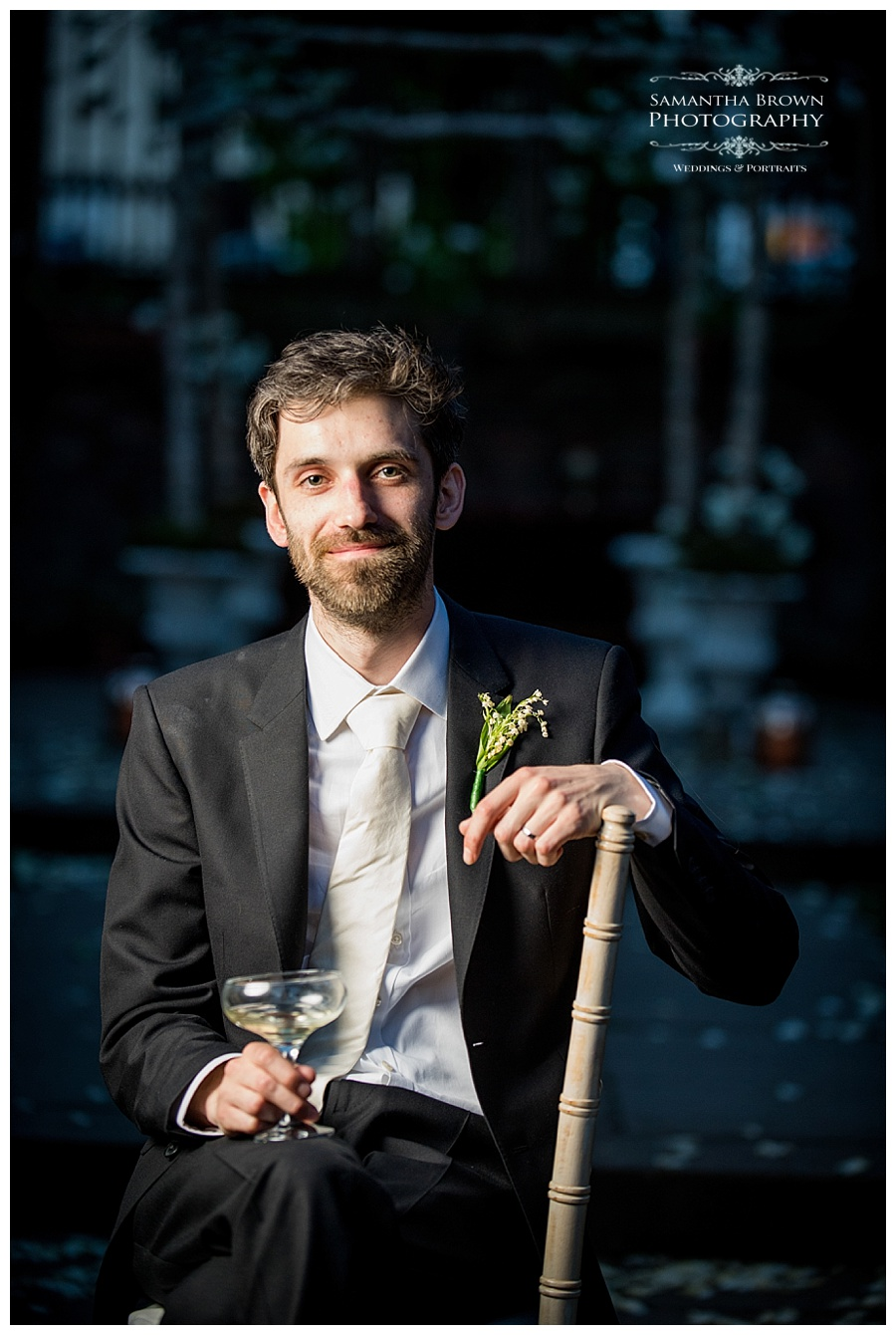 St Lukes Bombed out Church Liverpool wedding Groom