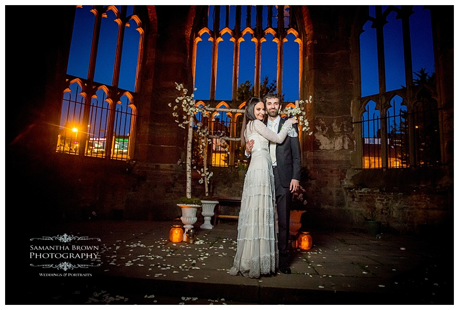 St Lukes Bombed out Church Liverpool wedding Groom and Bride