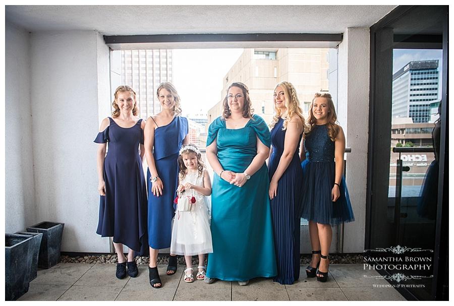 Bridesmaids getting ready at Malmaison Liverpool